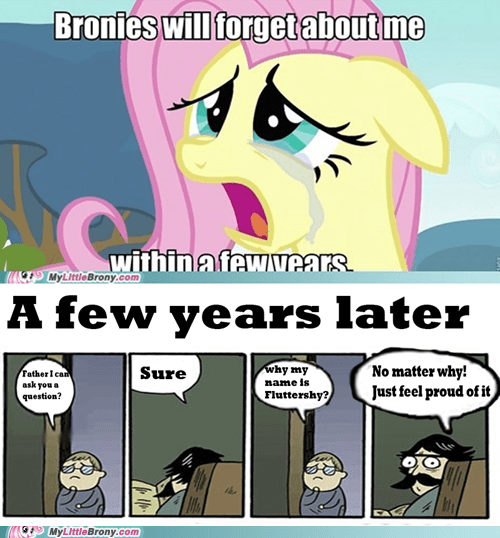 Bronies fluttershy meme never forget son stare dad - 6202839552