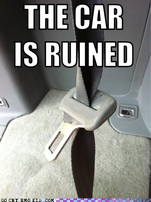 car,emolulz,First World Problems,seat belt,twisted