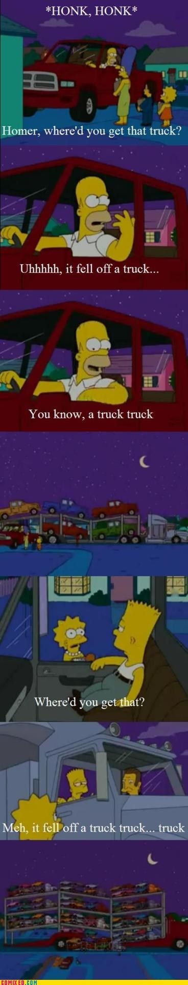 cartoons,simpsons,trucks,TV,yo dawg