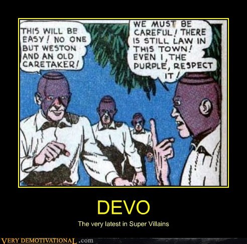 Devo,hilarious,villains,wtf