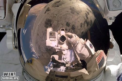 astronaut nasa portrait self portrait space