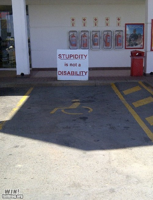 clever,disability,douchebag parkers,g rated,parking,win