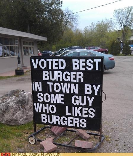 best,burger,guy,sign,vote
