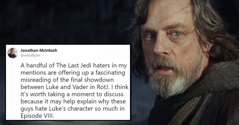 star wars luke skywalker sci fi the last jedi george lucas shook star wars haters wtf return of the jedi darth vader Jedi star wars twitter shocking twitter - 6203653