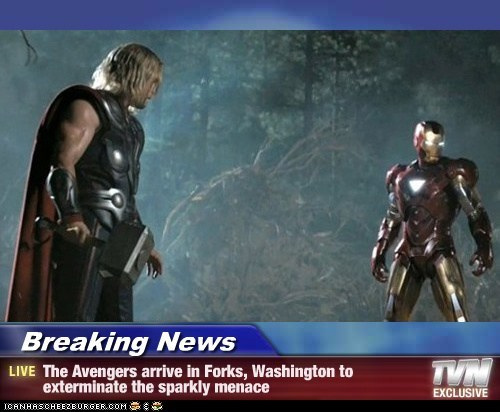 avengers,best of the week,chris hemsworth,Exterminate,forks,hunting,iron man,menace,news,sparkly