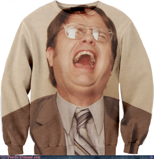 celeb,dwight,g rated,Hall of Fame,poorly dressed,sweatshirt,the office