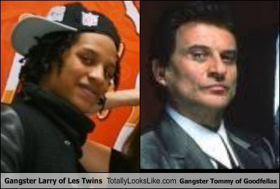 Gangster Larry of Les Twins Totally Looks Like Gangster Tommy of Goodfellas