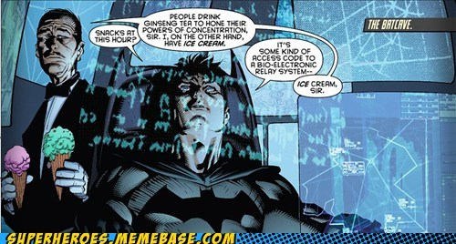 alfred batman ice cream Sad Straight off the Page - 6204085760