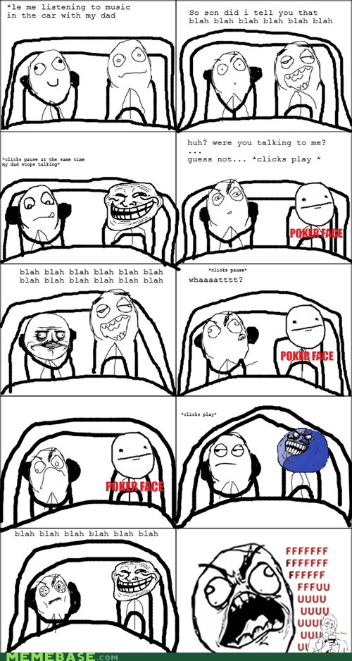 poker face parenting troll face i lied - 6204171776