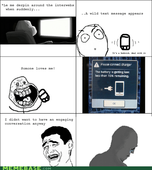 forever alone,cell phones,sms
