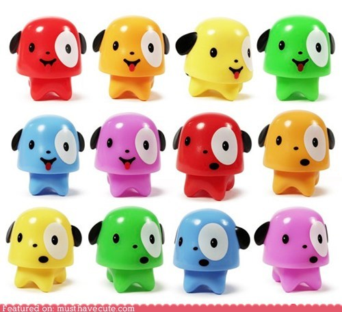 collectibles colorful figurines gumdrop plastic puppies - 6204309504
