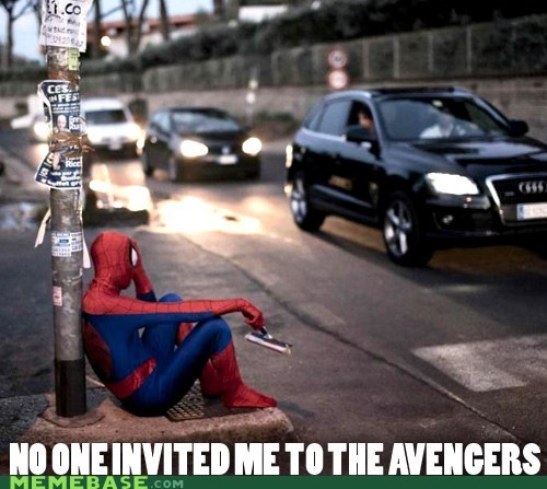 Sad,Spider-Man,car wash,avengers
