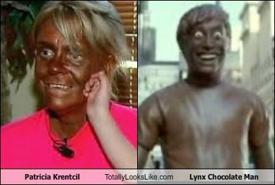 funny lynx chocolate man patricia krentcil tanning mom TLL