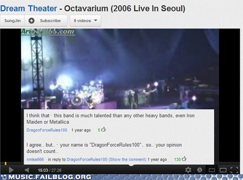 comment,comments,dragonforce,iron maiden,metal,metallica,youtube,youtube comments