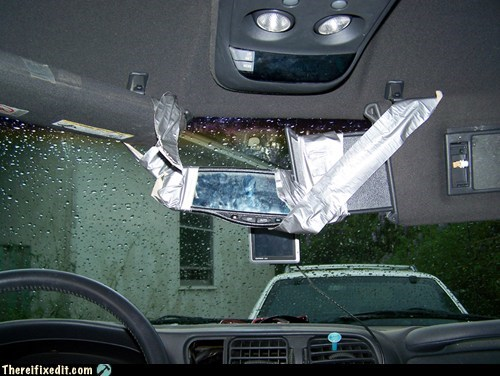 car fail car fix duct tape mirror rear-view mirror - 6205625600