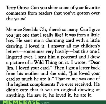 goodnight sweet prince,maurice sendak,rip,Text Stuffs