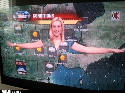fail nation fox g rated green screen see through weather girl