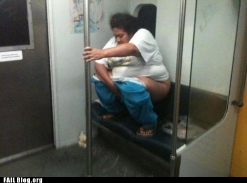 pants down Subway urinating