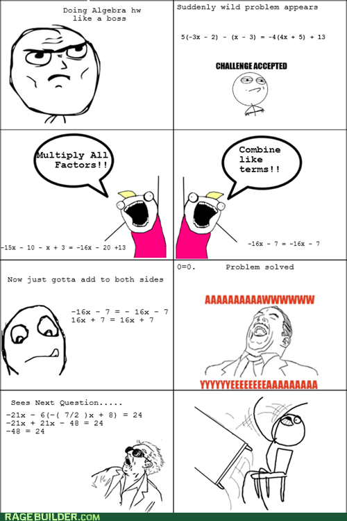all the things math Rage Comics table flip truancy story - 6205921792