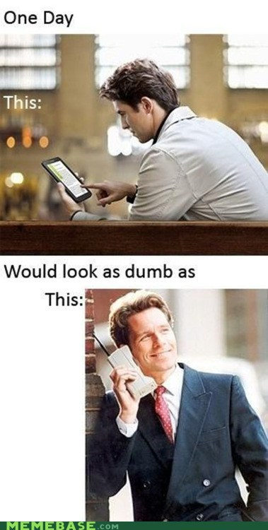 cell phone,dumb,future,ipad,kindle,Memes