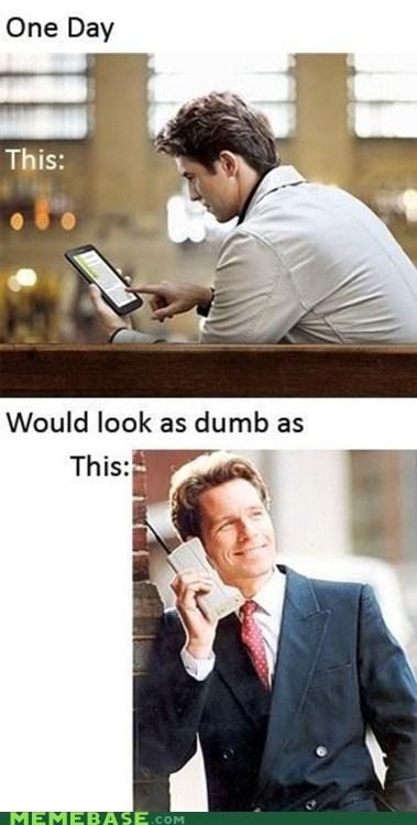 cell phone dumb future ipad kindle Memes - 6205925632