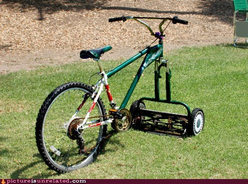 best of week bicycle lawnmower ultimate wtf