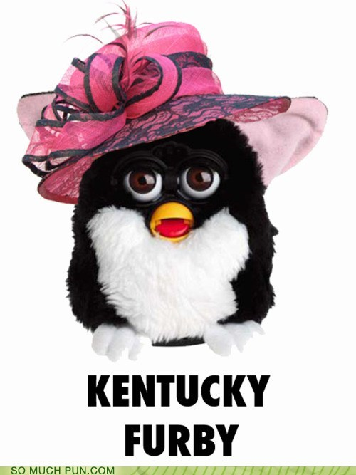 derby,furby,Hall of Fame,hat,kentucky,kentucky derby,literalism,rhyme,rhyming,silly hat,similar sounding