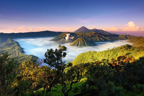clouds,indonesia,national park,volcano