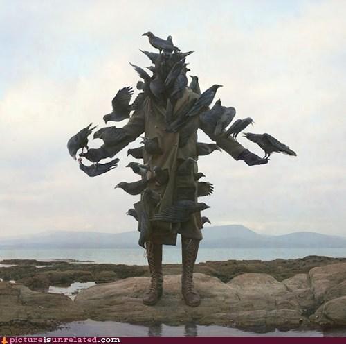 birdman,statue