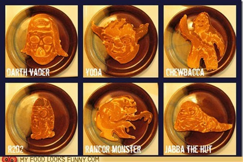 art characters pancakes star wars
