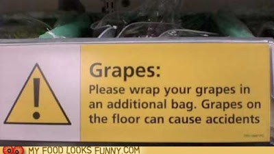 accident danger grapes label sign store - 6206270464