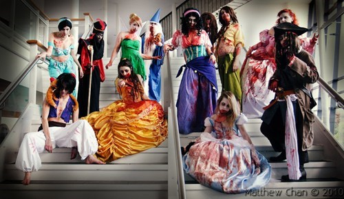 cosplay,disney,disney princesses,zombie