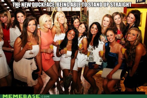 duckface girls gross Memes standing straight - 6206511616