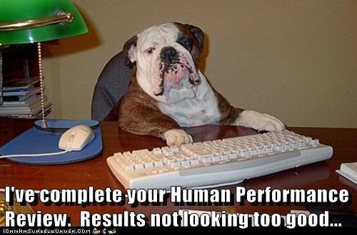 I've complete your Human Performance Review. Results not looking too good...