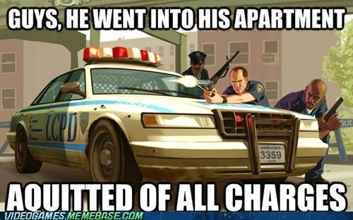 apartment Grand Theft Auto logic meme police - 6206634240