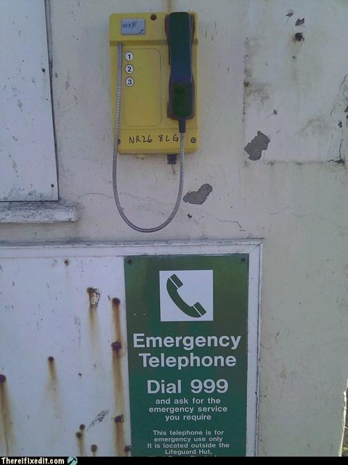 999 emergency pay phone phone - 6206692608