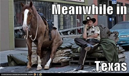 Andrew Lincoln horse Meanwhile Rick Grimes sitting texas The Walking Dead - 6206701824