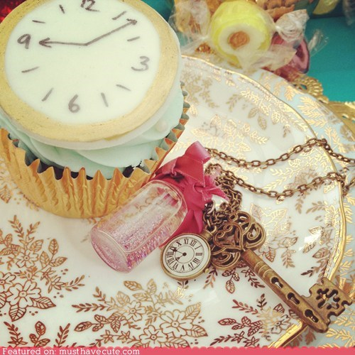 alice,clock,cupcake,epicute,watch,wonderland