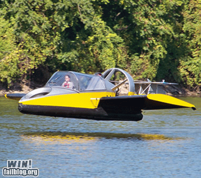 boat expensive hovercraft plane totally gratuitous