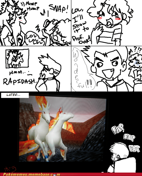 fap,Pokémon,professor oak,rage comic,rapidash,the internets,troll