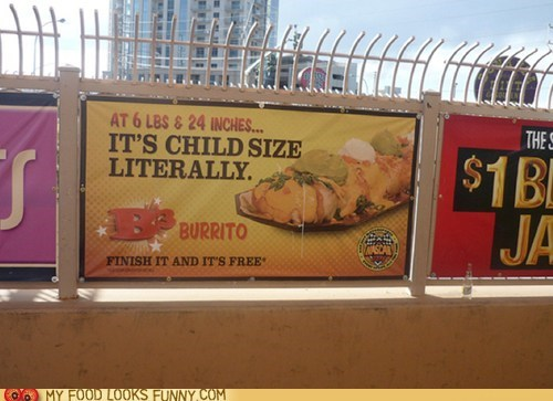 Ad burrito child giant huge sign - 6206859264