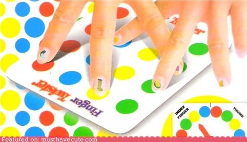 fingers game lazy nails stickers twister - 6206958336