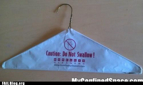 caution,do not swallow,hanger,you dont say