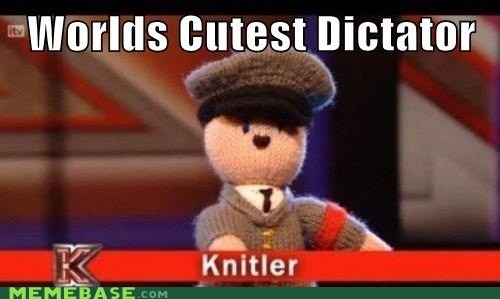 cute,dictator,hitler,hugs,jews,Knitler,Memes