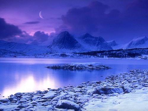 lake mountain Norway twilight - 6207467520