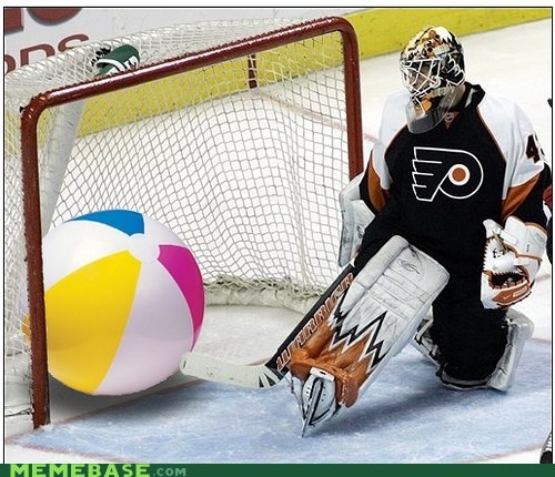 flyers sports goalie hockey beach ball - 6207476992