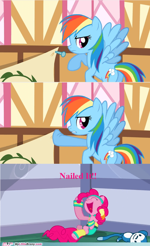 comics jokes Nailed It pinkie pie pun rainbow dash - 6207912448