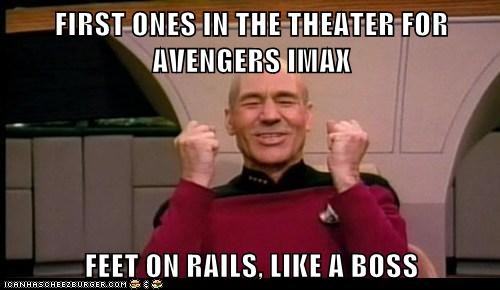 Captain Picard comfortable feet first IMAX Like a Boss movies patrick stewart Star Trek theater - 6207980544