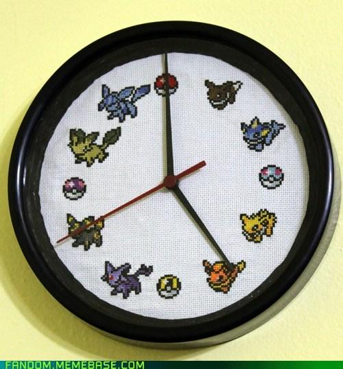 clock,eevee,Fan Art,Pokémon