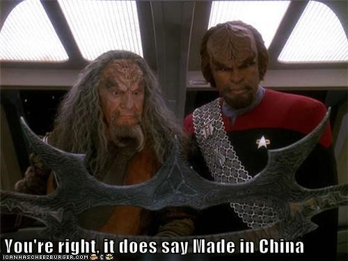 batleth,cheap,discount,klingons,knock off,made in china,Michael Dorn,Star Trek,weapon